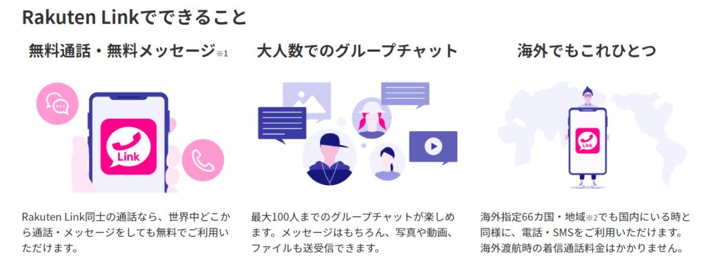 Rakuten Linkでできること(楽天モバイル)