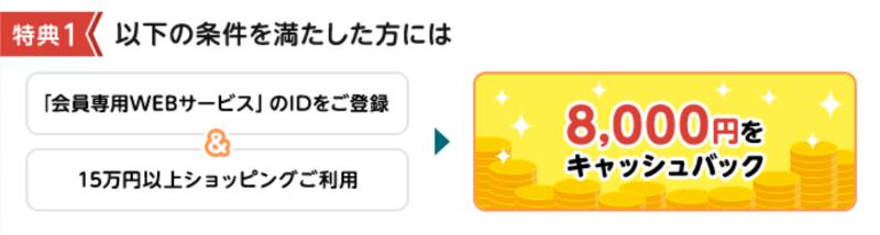 【最大1万円キャッシュバック】三菱UFJカード「VIASOカード」特典1